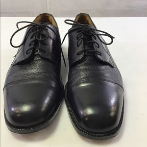 Black leather lace up oxford shoes 10 1/2 M Italy